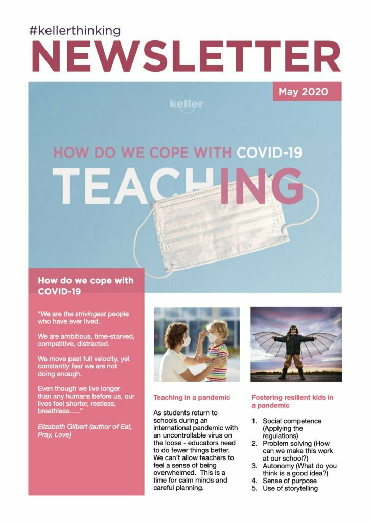 Newsletter Front Cover - How do we teach during a pandemic?
