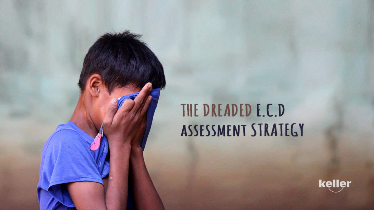 Title slide of Boy Crying due to the stress of assessment in ECD