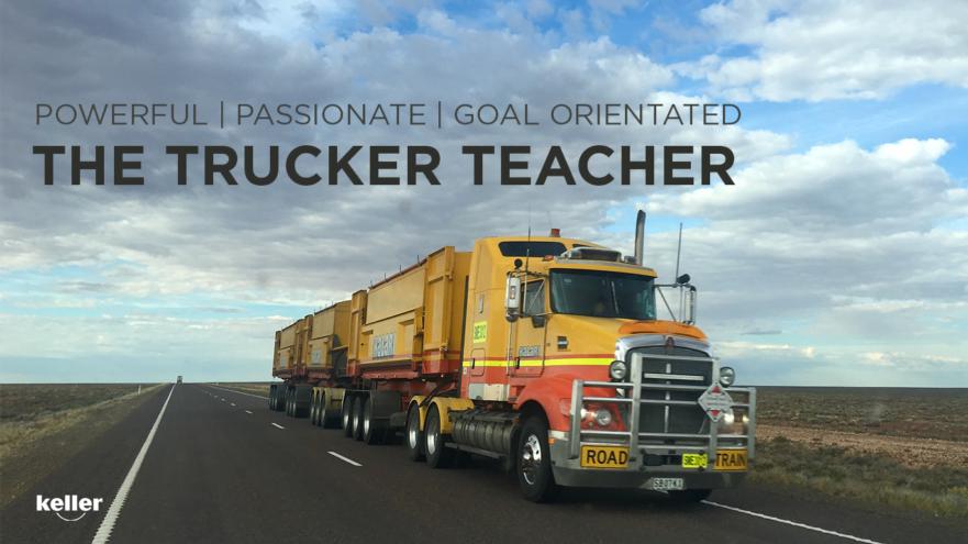 Title slide of the Trucker Teacher