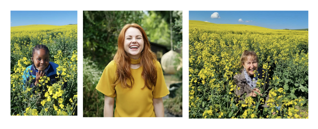 Students Smiling in the Canola Fields